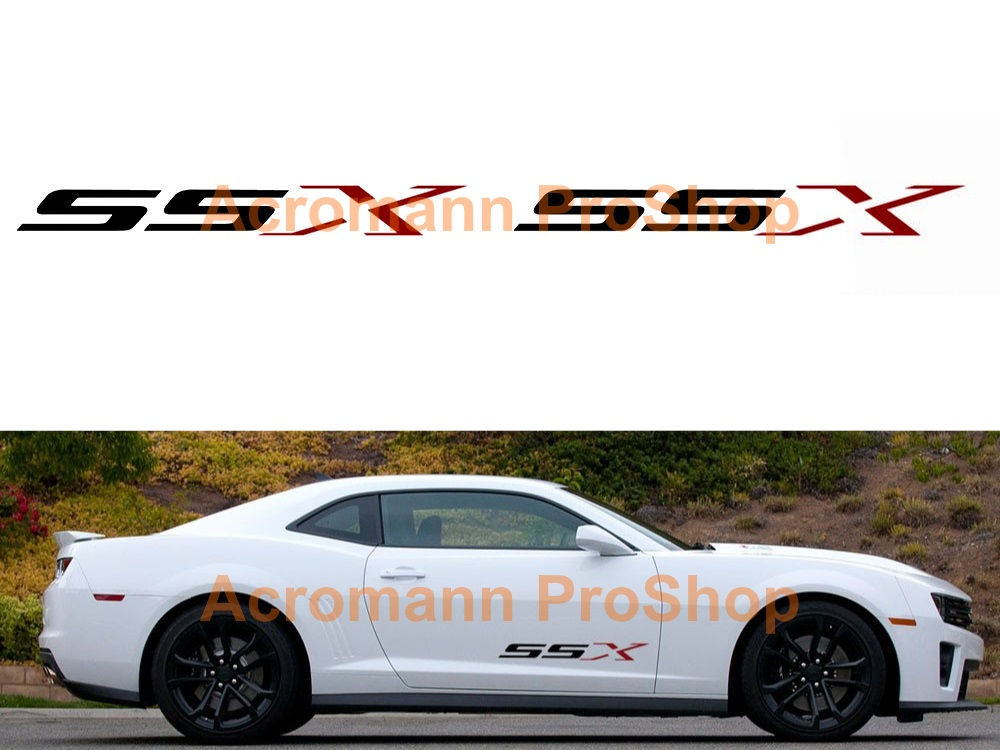 Chevrolet Camaro SSX Side Stripe Door Decal (Style#1) x 1 pair